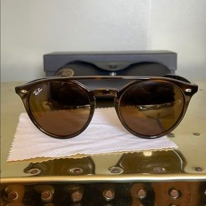 NWT Ray-Ban Round Brow Bar Havana Sunglasses